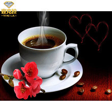 Алмазная вышивка чашка кофе с розой