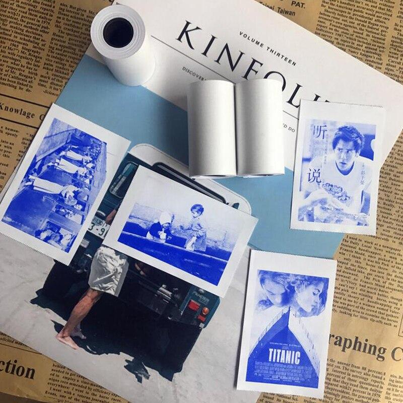 Neue Produkt MEMOBIRD PAPERANG Display Blau Aufkleber Thermische Papier Aufkleber 57*30 Aufkleber Label Papier 3 Bände zu Senden