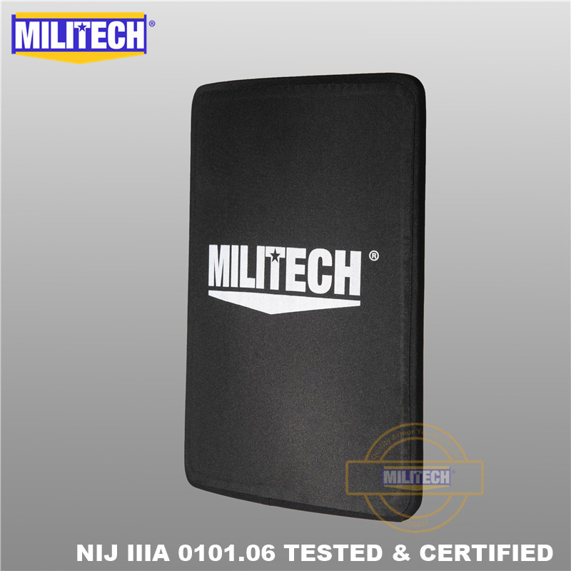 MILITECH 280mm * 350mm NIJ IIIA Ultra Light Weight UHMWPE Bulletproof Ballistic Backpack Panel 11 X 14 Inches School Bag Insert