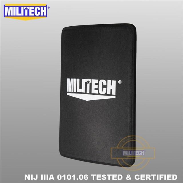 MILITECH 280mm * 350mm NIJ IIIA Ultra Light Weight UHMWPE Bulletproof Ballistic Backpack Panel 11 x 14 inches School Bag Insert