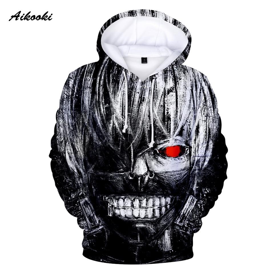 Aikooki Hoodie Coat Tracksuits Sweatshirts Tokyo Ghoul 3d-Print Fashion-Brand Men Casual