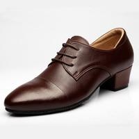Latin Dance Shoes Male Sports Leather Shoes Banquet Men Dancing Shoes Tidal CCurrent Wedding Mens Shoes