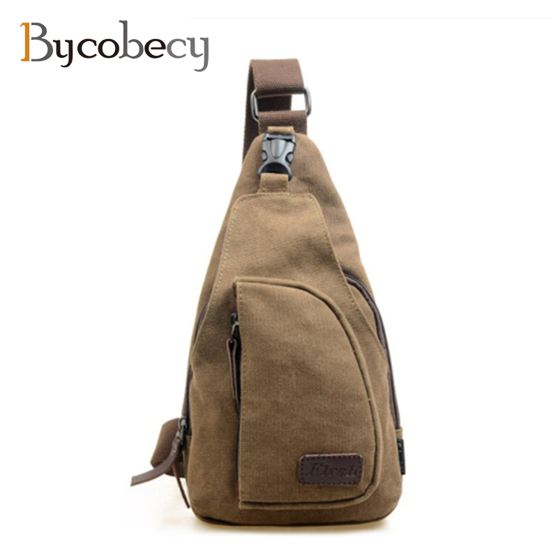 BYCOBECY Men Chest Bag Messenger Bag New Fashion Canvas Male Shoulder Bag Casual Travel Men Small Crossbody Back Pack man canvas chest bag fashion messenger casual travel chest bag back pack men s single shoulder bags small travel chest pack
