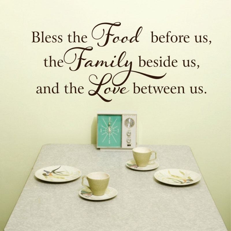 Bible Quotes For The Kitchen: Kitchen Bible Vinyl Sticker Quotes Bless The Food Before