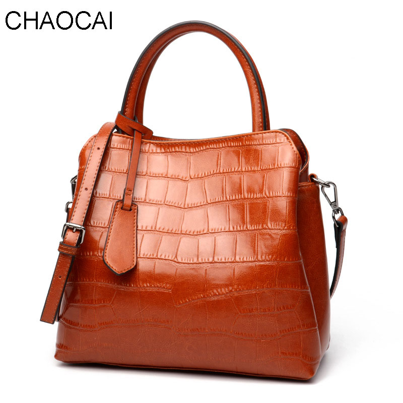 Fashion Women Handbag Genuine Leather Shoulder Bag Alligator Pattern Clutch Female Crossbody bags barhee new stone pattern pu leather women messenger bag crossbody shoulder bags for girls luxury design alligator handbag female