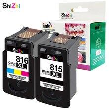 Cartucho de tinta shizhi compatível para pg 815xl cl 816xl para canon pixma ip2780 mp236 mp259 mp288 mx348 mx358 mx368 mx418 impressora
