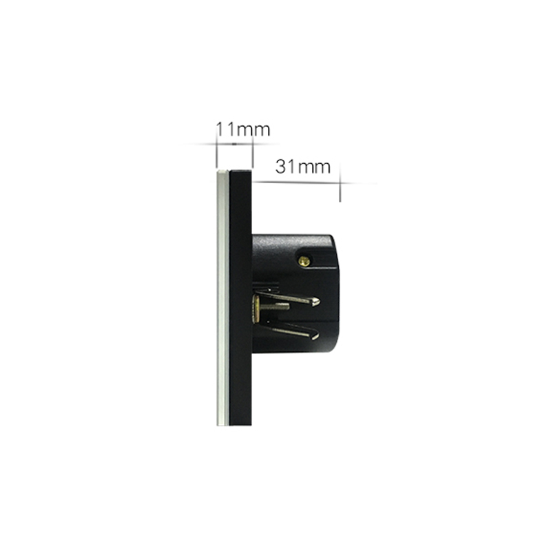 ASEER,Smart House Luxury Glass Panel EU Standard Remote Control Smart  Electric Touch Curtain Wall Switch 1000W + LED Indicator In Switches From  Lights ...