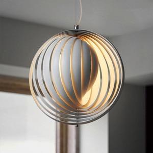 Image 4 - 北欧デザインの人格クリエイティブペンダントライト回転アート Hanglamp 寝室ダイニングルームバー玄関照明器具をぶら下げ