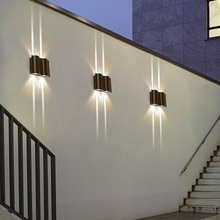 Modern 6W 12W 18W LED Outdoor Waterproof Wall Lamp Home Decorative Lighting Wall Sconce Home Stairs Porch Garden Wall Light