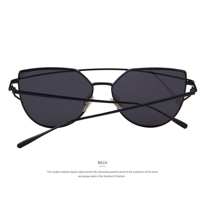 1d5add3f494c5 Aliexpress.com  Compre MERRY S Hot Sale Da Moda Olho de Gato Óculos De Sol  Mulheres Marca Grife Clássico Feminino Twin Vigas de Revestimento Espelho  Lente ...