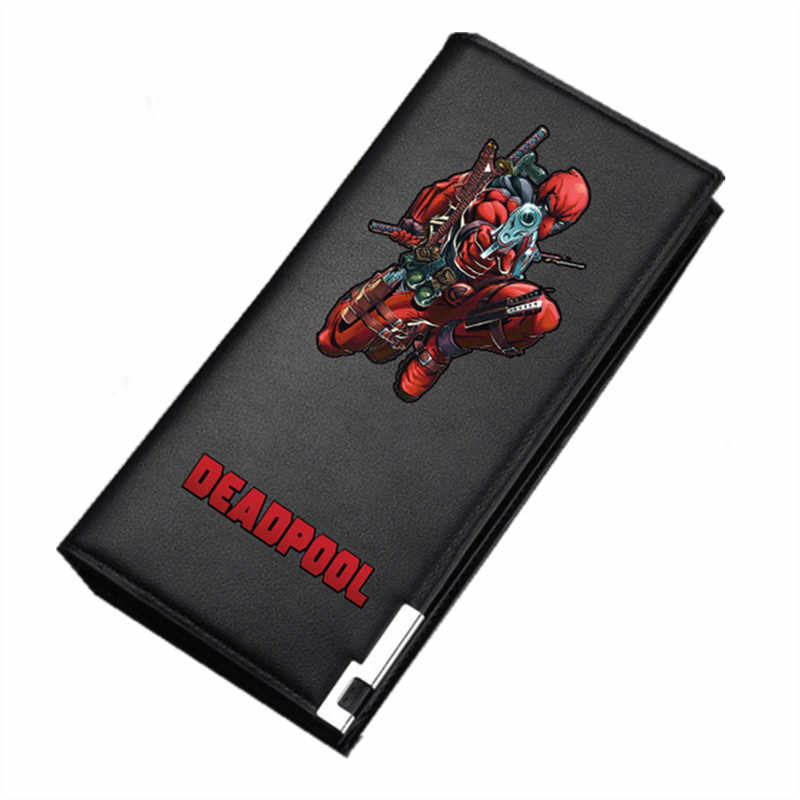 2019 Wade Winston Wilson Deadpool Design Unisex Long Purses Pu Leather Wallet Cartoon ID Card Holder Money Pocket Clutch