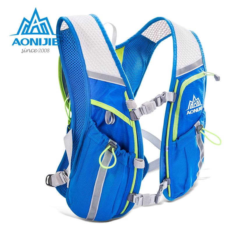 AONIJIE 8L Lightweight Running Vest Backpack Outdoor Sports Marathon Cycling Hiking Bag Mochila Optional 1.5L Hydration Bag