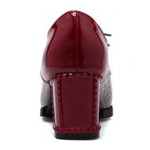 Fashion Vintage Lace Up Ol Pumps Women Big Size 34-43 Western Style Platform High Heels Dress Shoes Woman Footwear