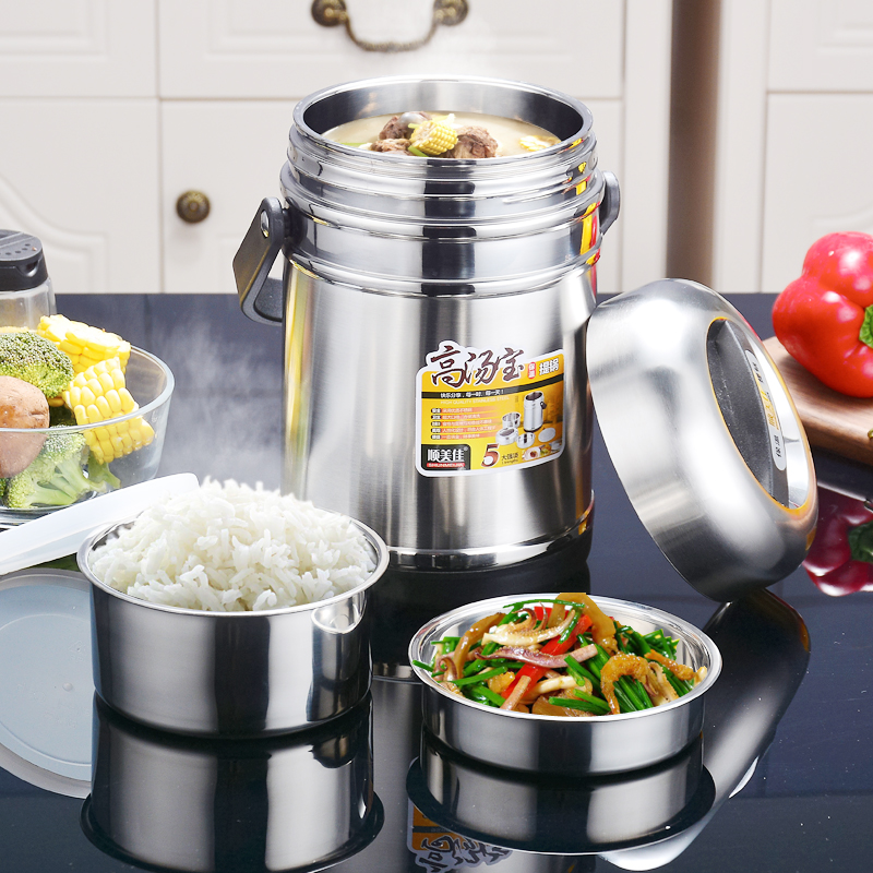 Stainless steel vacuum insulation bento boxes large capacity lunch boxes 35