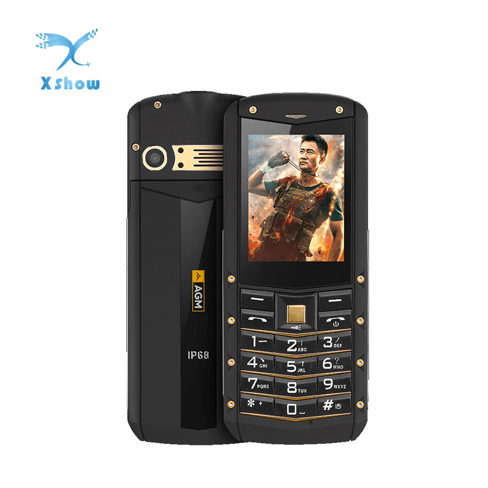 AGM M2 IP68 2G GSM Feature Unlocked Phone Tri proof 2 4 Inch SC6531DA 32MB 32MB