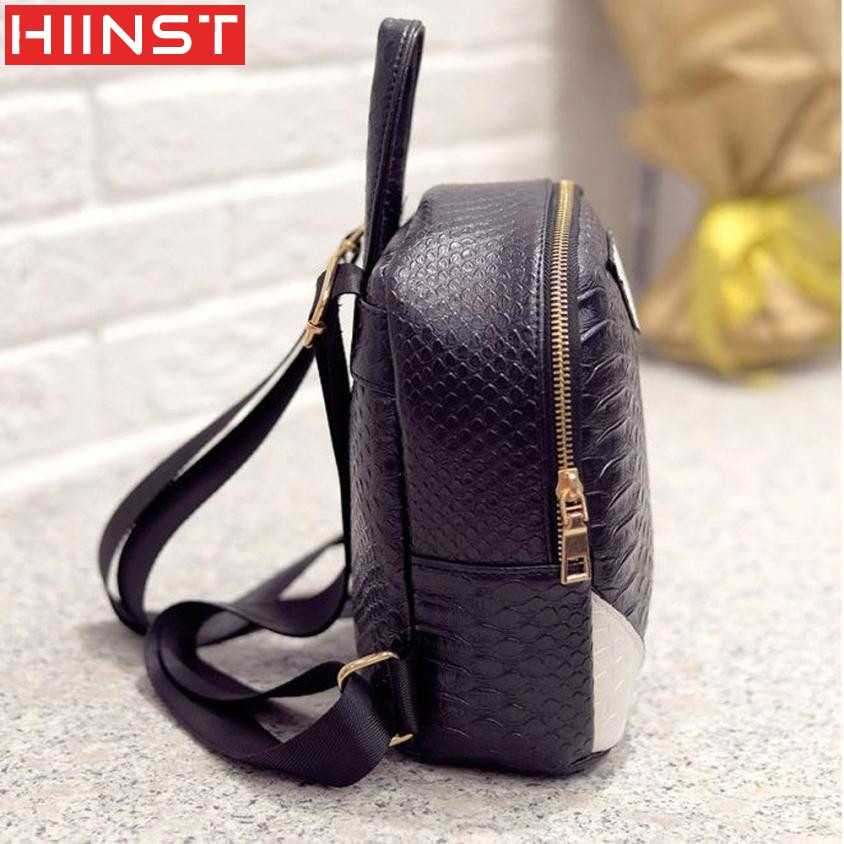 1d4b4f8a44 ... Backpack Hiinst Best Gift Women Canvas Rucksack concise Serpentine Backpack  School Book Shoulder Bag a20  ...