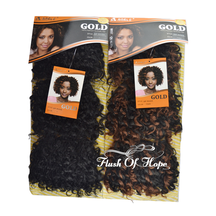 One Pack For Full Style Noble Gold Gp Ross Synthetic Hair Weaving