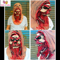 Free Shipping Zombie Mask Soft Rubber Evil Ghost Rot Scary Halloween Party Costume Dress Make up Horror Prank Joke Supply Gifts
