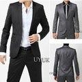 Frete grátis! homens de moda de luxo elegante bolsa de metal moda fivela fino blazer paletó masculino