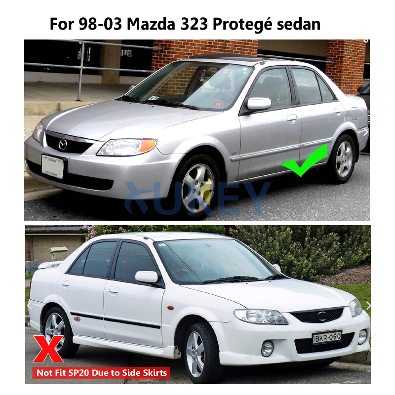 For MAZDA PROTEGE SEDAN 1998-2003 4pcs MUD FLAPS SPLASH GUARDS FENDER MUDGUARD