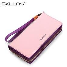 Sxllns Brand Handbag New Women Genuine Leather Fashion Clutch Bags Ladies Large Capacity Long Wallet Womens