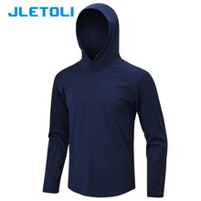 9790733e87d2 JLETOLI Winter Running Jacket Men Training Hooded Quick Dry Sport Coat Long  Sleeve Fitness Wear Outdoor