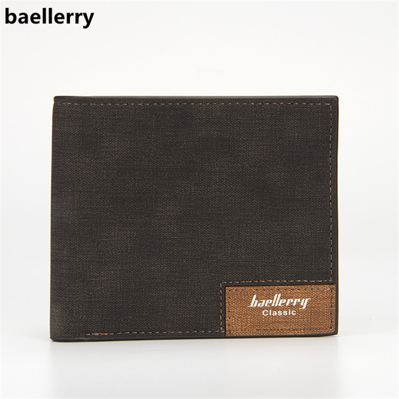 Baellerry Men's Wallets 2018 Brand New Men Wallet PU Leather Ultrathin Short Wallet Card Holder Male Purse Carteira Masculina baellerry high quality men leather wallets vintage male wallet three hold purse for men short purses carteira masculina d9150
