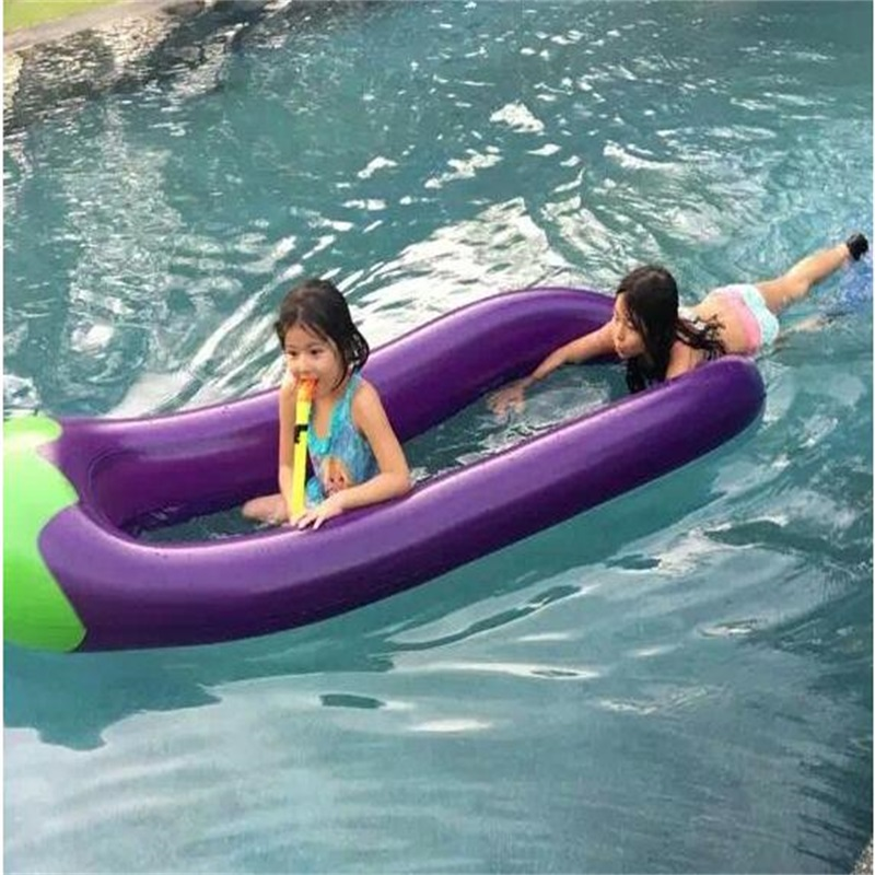 270CM Inflatable Swim Ring Eggplant Floating Bed Water Float Boat Summer Float Row270CM Inflatable Swim Ring Eggplant Floating Bed Water Float Boat Summer Float Row