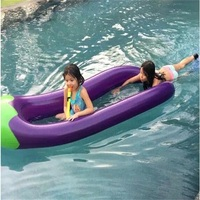 270CM Inflatable Swim Ring Eggplant Floating Bed Water Float Boat Summer Float Row