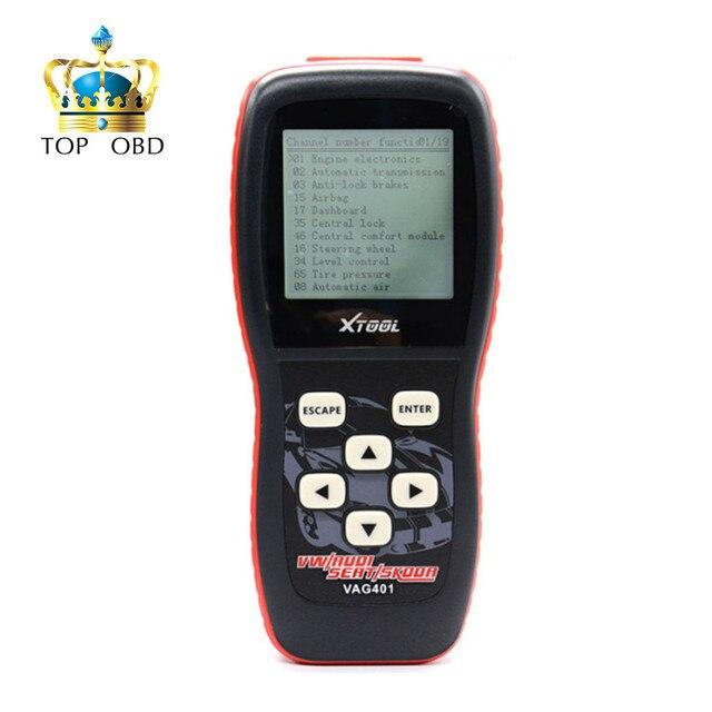 100% original xtool vag401 para audi/vw/seat/skoda vag 401 super vag obdii scanner xtool vag401 frete grátis