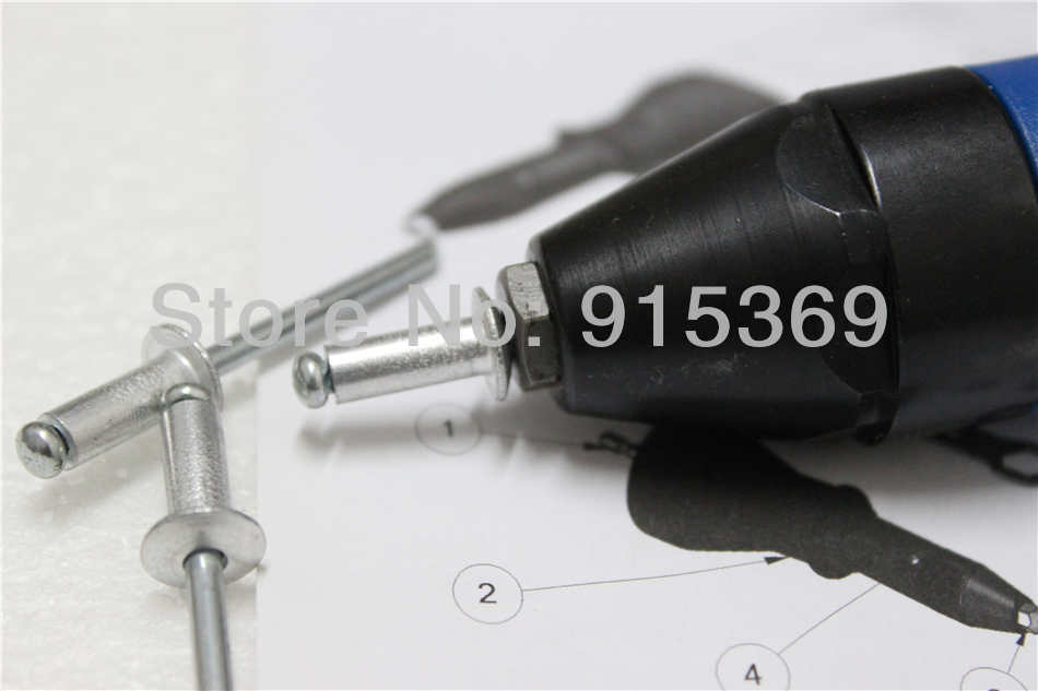 400pcs pop rivet tool kits rivet  adaptor for cordless drill  electric rivet drill for  pop rivets 2.