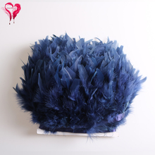 Wholesale 10Yards/lot Width 10-15cm Navy Blue Turkey Feathers Trimming for Stage Fashion Show Wedding Decoration