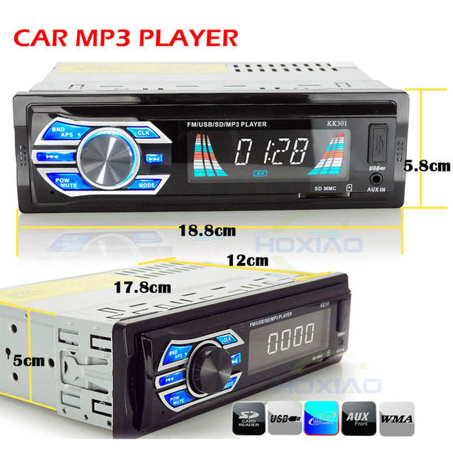 1 Din 24V Car radio player USB SD MP3 Audio System FM 1DIN FM electronic  music player truck school bus Auto Radio AUX Players