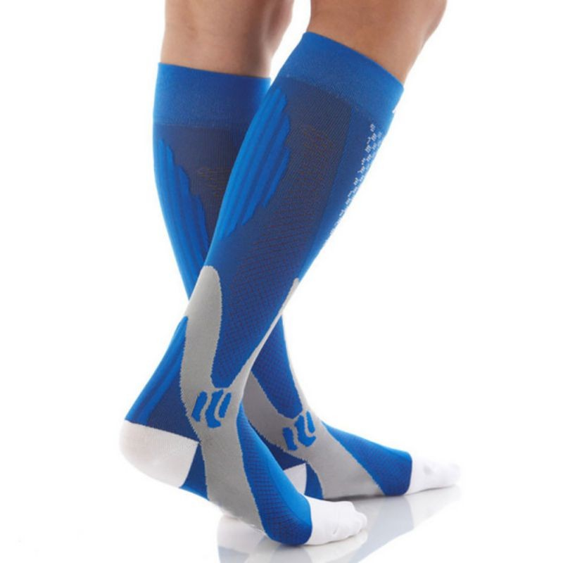 HTB1O0z0XRKw3KVjSZTEq6AuRpXa3 - Men Women Leg Support Stretch Compression Socks Below Knee Socks