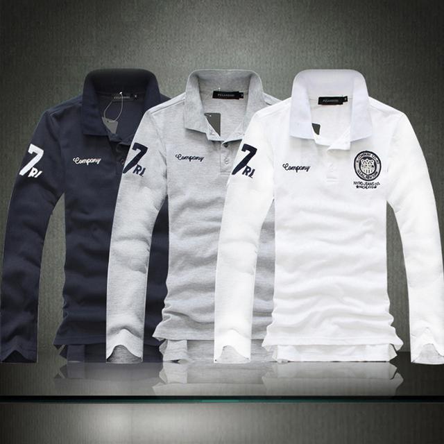 Más el tamaño 5xl hombres camisa de polo de manga larga delgado camisas de algodón de alta calidad de impresión de los hombres ropa casual para hombres camisas