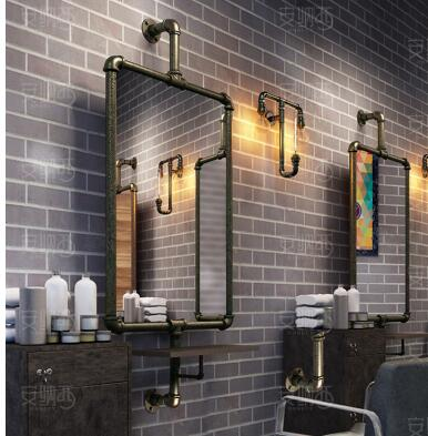 Creative Beauty Salon, Mirror Stand, Single And Double Floor Mirror, Tieyi Barbershop Mirror.(China)