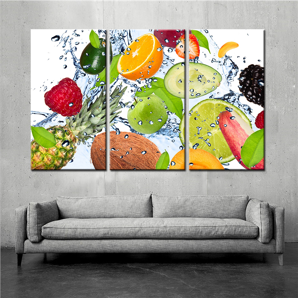Imagenes Cuadros Us 6 33 30 Off 3 Panel Fruit Canvas Painting Cuadros Decoration Wall Art Lemon Strawberry Modular Pictures For Living Room Unframe Dropshipping In