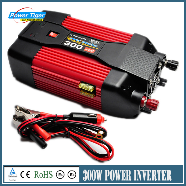 300W DC 12V TO AC 220V Truck Power Inverter Charger Converter Adapter Modified sine wave With Usb Car Charger bestek 150w car power inverter 12v 220v dc ac converter 12v to 220v adapter 1 usb charging port charger auto power inverter
