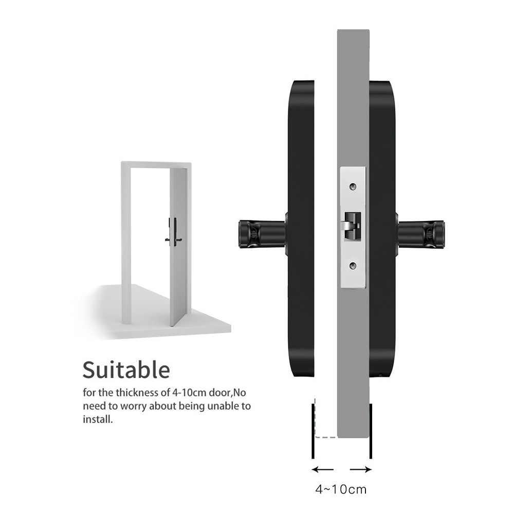 TUYA умный дверной замок цифровой кодовый замок с Биометрическим распознаванием с WiFi Smart Life App