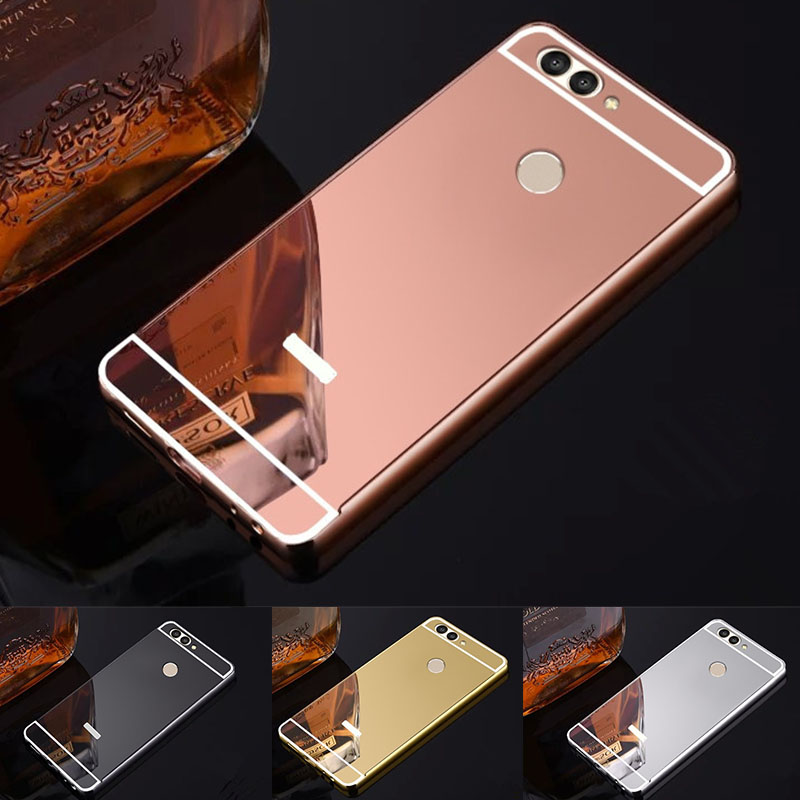 Case for Huawei Nova 2 plus Luxury Rose Gold Mirror case Back Cover for For Huawei Nova  ...