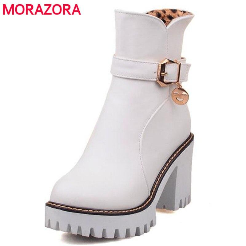 Chute de 2016 nouvelles grandes tailles femmes chaussures bow ronde tête talons chunky mat Chaussures femmes GuFub