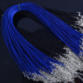 8pcs/lot 18 Inch Adjustable Black Blue Necklace Wax rope Cord String1.5mm For DIY Jewelry Making