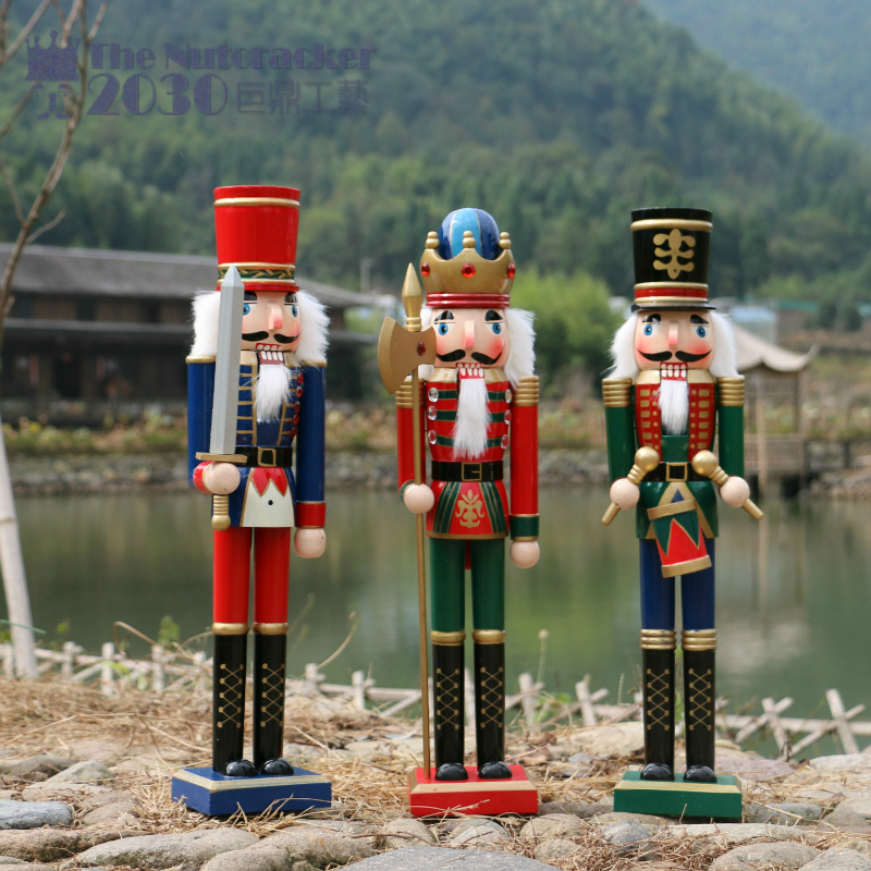 the Nutcracker puppet soldiers 50cm home ornaments drummer New Year gift King guard wall dies christmas decorations for home