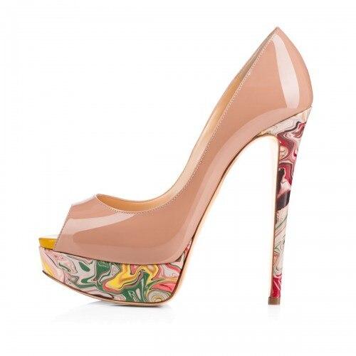 Popular Nude Peep Toe High Heels-Buy Cheap Nude Peep Toe High ...