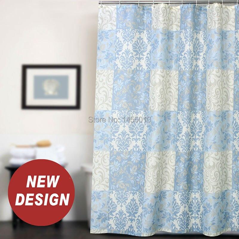 っFabric Polyester Rome Pattern Baroque Waterproof Shower Curtain ...