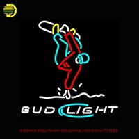 Bud Light Snowboard Trickster Beer NEON SIGN Handcrafted Decorate Beer Pub Room Sports Neon Bulbs Glass