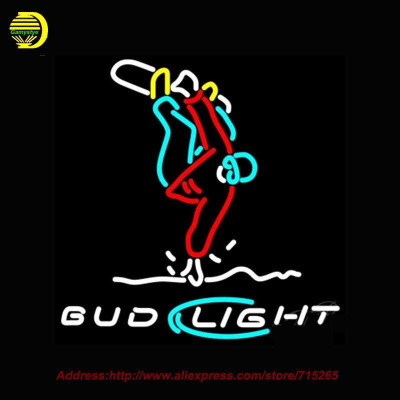 Bud <font><b>Light</b></font> Snowboard Trickster Beer NEON SIGN Handcrafted Decorate Beer Pub Room Sports Neon Bulbs Glass Tube Affiche Lamp 31x24