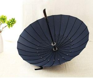 Image 5 - 뜨거운 판매 브랜드 비 우산 남자 품질 24K 강한 Windproof Glassfiber 프레임 나무 긴 손잡이 우산 여성 Parapluie