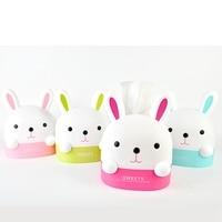 1pc Creative Cartoon Rabbit Box Household Living Room Bedroom Toilet Roll Desktop Paper Towel Box Paper