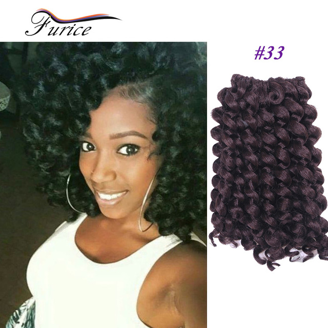 8 Inch Wand Curl Crochet Hair Extensions Ombre Twist Braiding Hair